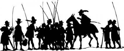 People Group Going To Fish clip art