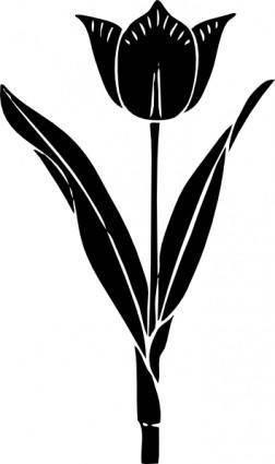 free vector Tulip Silhouette clip art
