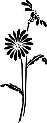 free vector Flowers Silhouette clip art