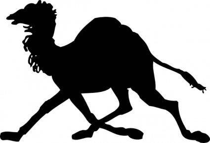 free vector Camel Silhouette clip art