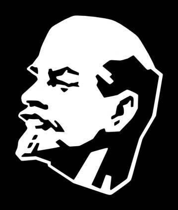 Lenin Silhouette clip art