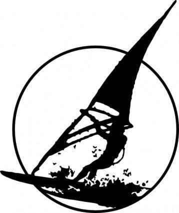 free vector Windsurfing clip art
