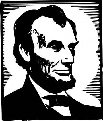 free vector Abraham Lincoln clip art