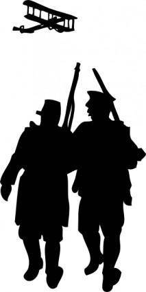 World War I Silhouette clip art