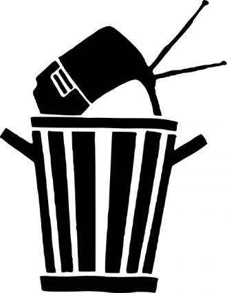 Tv In Trash clip art