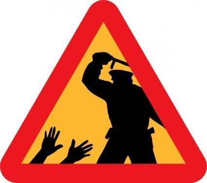 free vector Warning For Police Brutality clip art