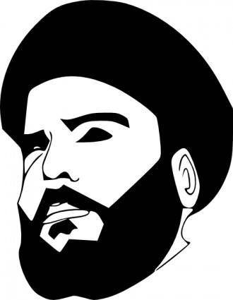 free vector Muqtada Al Sadr clip art