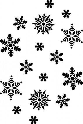 free vector Snowflakes Silhouette clip art