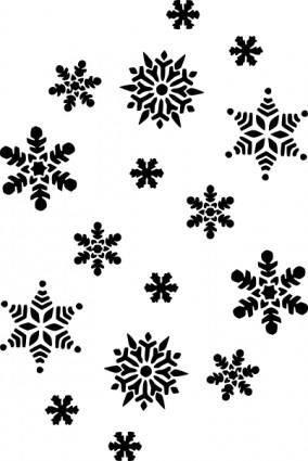 Snowflakes Silhouette clip art