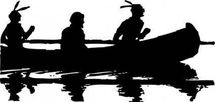 Canoe Silhouette clip art