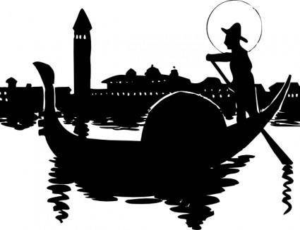 free vector Venice Boat clip art