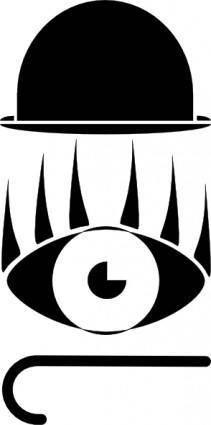 Hat Eye Stick Silhouette clip art