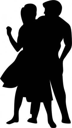 free vector Dancing Couple Fifties clip art