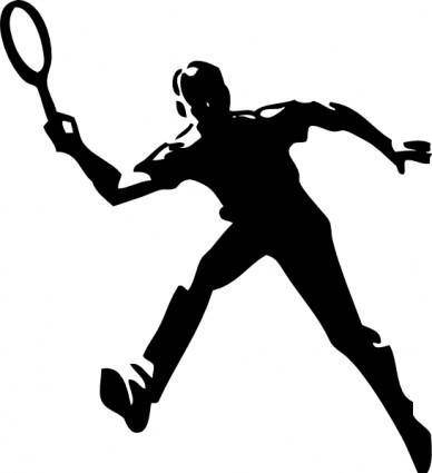 free vector Tennis Player clip art