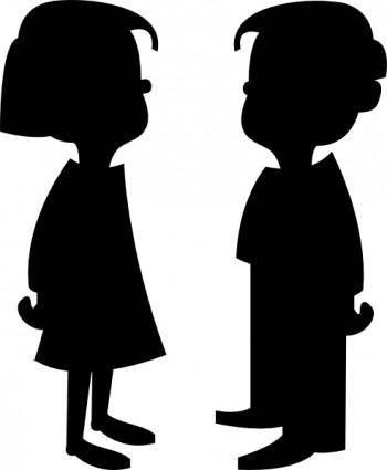 Girl And Boy clip art