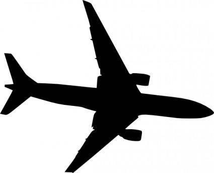 Plane Silhouet clip art