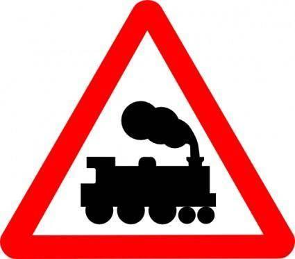 Train Road Signs clip art