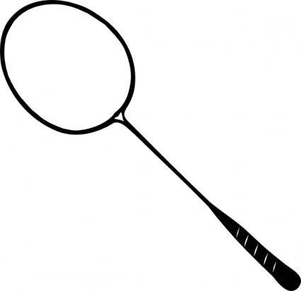 free vector Badminton Racket clip art