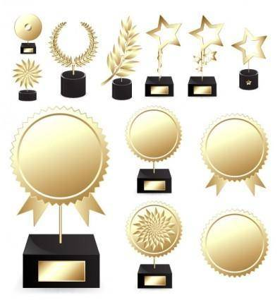 free vector Trophies medals vector