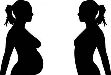 free vector Pregnancy Silhouet clip art