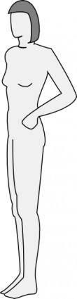 Female Silhouette Side clip art