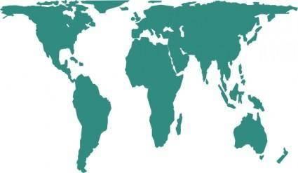 World Map clip art 111632