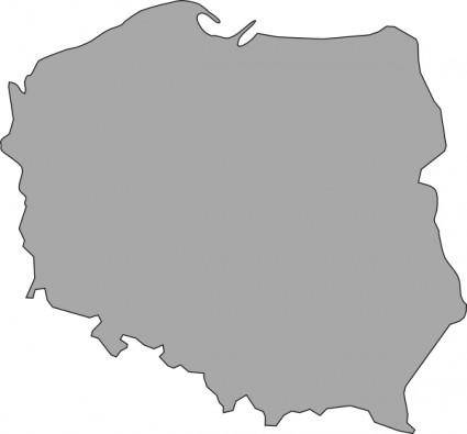 free vector Map Of Poland clip art