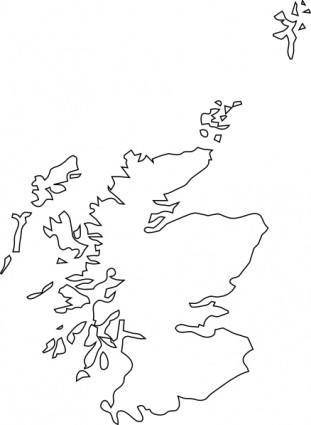 free vector Map Of Scotland clip art