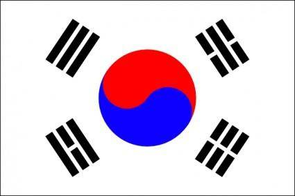 Flag Of Korea clip art
