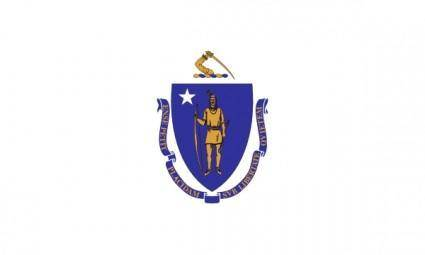 free vector Flag Of Massachusetts clip art
