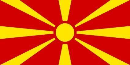 Flag Of Macedonia clip art