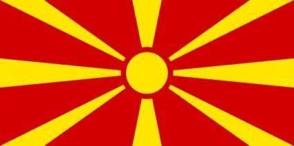 Flag Of Macedonia clip art