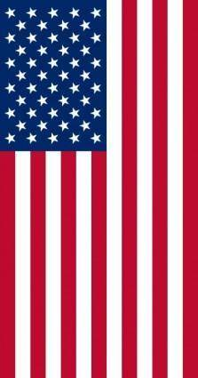 Vertical United States Flag clip art