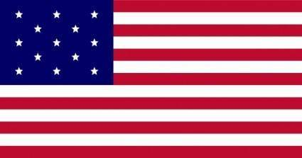 Usa Flag, Fewer Stars clip art