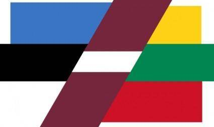 Patchwork Flag Of Baltic Countries clip art