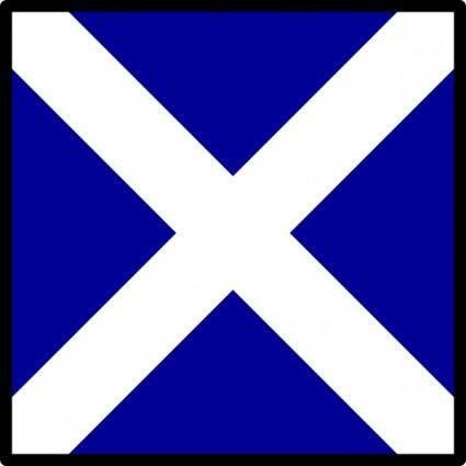 free vector Maritime Signal Flag Mike clip art