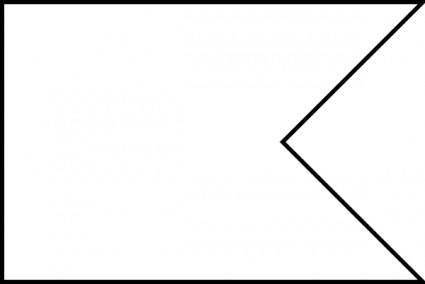 free vector Flag Shape Swallowtail clip art