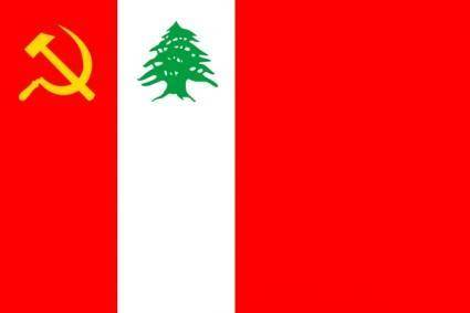 free vector Flag Of The Lebanese Communist Party clip art
