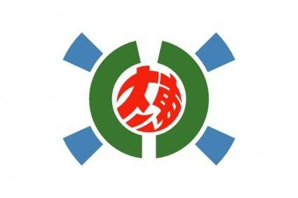 Flag Of Kitadaito Okinawa clip art