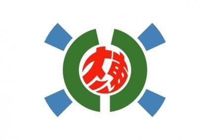 Flag Of Kitadaito Okinawa clip art