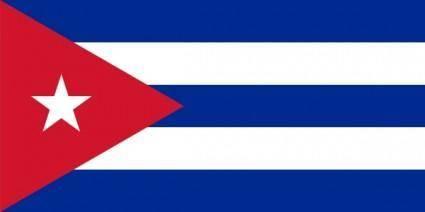Flag Of Cuba clip art