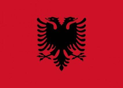 free vector Flag Of Albania clip art