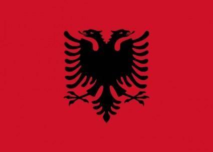 free vector Flag Of Albania clip art