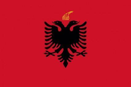 Flag Kingdom Of Albania clip art
