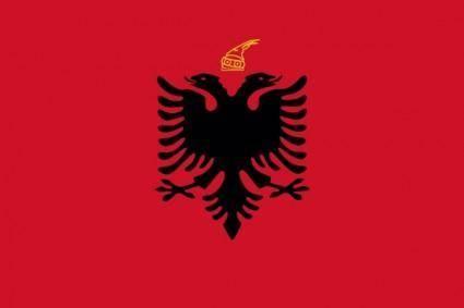 free vector Flag Kingdom Of Albania clip art