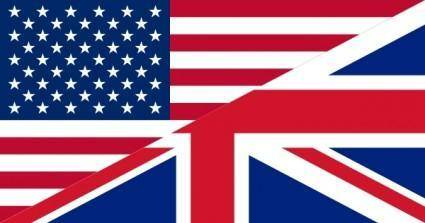 Flags Of The United States And The United Kingdom clip art