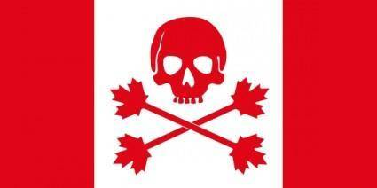 Pirate Flag Of Canada clip art