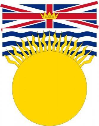 Flag Of British Columbia Canada clip art