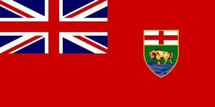 Flag Of Manitoba Canada clip art
