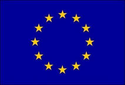 Flag Of European Union clip art